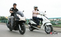 So sánh Honda PCX & Piaggio FLY 2012