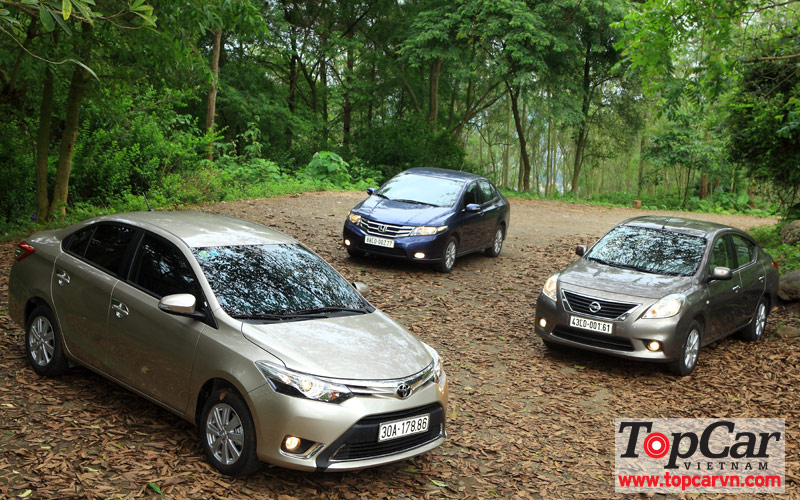 So sánh Toyota Vios vs Honda City vs Nissan Sunny