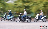 So sánh Honda SH 2012, Piaggio Liberty và Kymco People